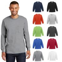 TALL PC61LSPT Mens Long Sleeve POCKET T-Shirt Heavy Soft Spun Cotton Blank Tee