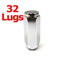 "32x Excalibur 3204HD Lug Nuts 1/2"" Acorn 7/8"" Hex Chrome 2.4"" Duplex XL XX Lng"