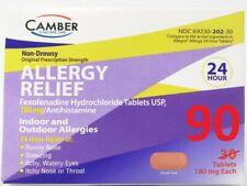 Fexofenadine (Allegra) 180mg Allergy Relief 90ct Tab BEST PRICE!