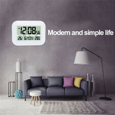 Large LCD Display Digital Electronic Calendar Living Room Wall Clock Thermometer