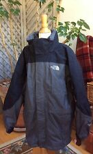 NORTH FACE Boys Jacket COAT L 14 TRI-CLIMATE HYVENT Gray/Black 3-In-1 Fleece