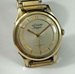 Vintage LeCoultre 10k Gold Filled Men's Watch, P812 Bumper Automatic Movement