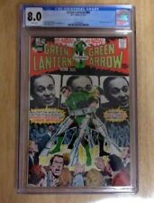 GREEN LANTERN #84 SWEET CGC 8.0 1971 WHITE PAGES NEAL ADAMS ART+COVER
