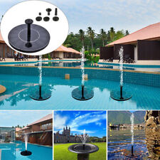 Solar Power Fountain Water Pump Floating Panel Pool Garden Plants Pond Watering