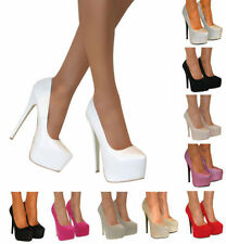 Leather Stiletto Party Heels for Women