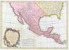1771 Antique Map CARTE DU MEXIQUE TEXAS LOUISIANA BAJA CALIFORNIA FLORIDA  (BLM)
