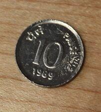 1989 India 10 Paise