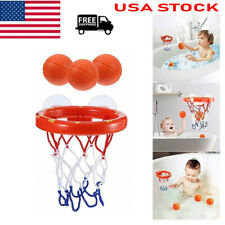 Baby Kids Bath Mini Basketball Hoop & 3 Balls Set Ball Bathtub Shower Pool Toys