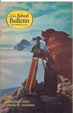 national geographic-SCHOOL BULLETIN-nov 30,1964-SCIENTISTS PROBE ANTARCTIC......