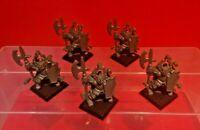 Chaos Warriors x5 Battle Masters Figures MB Games Workshop