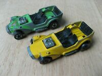 "1971 Hot Wheels Redline ICE ""T"" Yellow HK + 1977 Blackwall ICE ""T"" Green-NICE"
