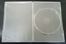 5 Genuine Clear Amaray Single DVD Cases