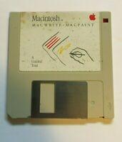 1984 Macintosh MacWrite and MacPaint Guided Tour Software Disk 128K Mac