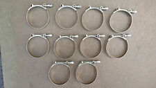 """10 x 3.25"""" Stainless Steel T-Bolt Tbolt Clamps/Clamp Turbo Supercharge"""