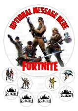 "Fortnite  Iced / Icing Personalised Edible Cake Topper 7.5"" + Cupcake Toppers"