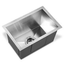 Stainless Steel Kitchen Laundry Sink with Strainer Waste 450 x 300mm Plumbing De