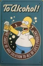 Homer simpson to alcohol humor beer new tin metal sign MAN CAVE