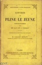LETTRES DE PLINE LE JEUNE / DE SACY / Garnier