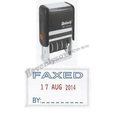 One { FAXED } Deskmate Self-Inking Date Stamp Free Ship & Tracking