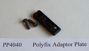 Caravan Window Stay. Polyfix Adaptor Plate. PP4040
