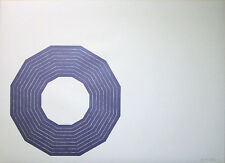 "FRANK STELLA Signed 1972 Original Color Lithograph - ""Kay Bearman"""