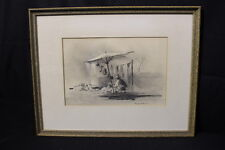 """Framed Print """"Every Day is Wash Day"""" by Gerhard C. F. Miller, Signed by Artist"""