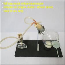 Vertical Steam Engine Model Toy w Boiler Physics Education Demo Steam Engine Kit