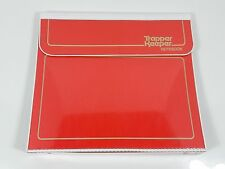 awesome vintage 1980's Trapper Keeper red gold lettering w 3 portfolio in VNC