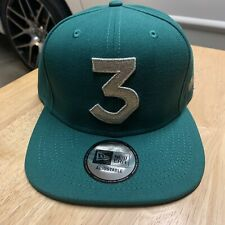 Chance The Rapper 3 Era Cap Snapback Hat Green Silver Super Rare