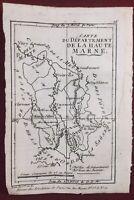Haute Marne 1790 Bourbonne Arc en Barrois Joinville Langres Chaumont Bourmont