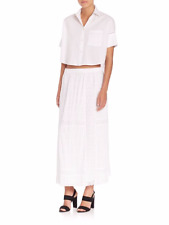 NWT Thakoon crochet Maxi Womens White Full Maxi Skirt Size 6 - Price is reduced!