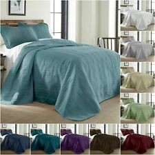 Chezmoi Collection Kingston 3-piece Oversized Bedspread Coverlet Set (10 Colors)