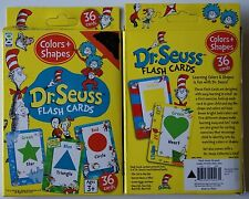 Dr. Seuss Flash Cards Color and Shapes Preschool Learning 36 Flash Cards