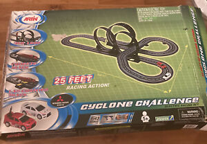 "Vintage Artin Slot Car Electric Racing Set Cyclone Challenge 25 Feet Track ""New"""