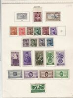 Egypt stamps on album page Ref 9880