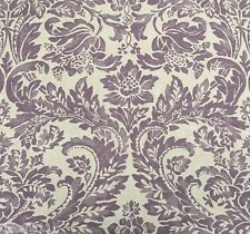AERIN LAUDER LEE JOFA LARGE SCALE DAMASK LINEN UPHOLSTERY FABRIC MONTROSE 16.5 Y