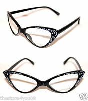 Small Frame Cateye Glasses : Cat Eye Vintage Glasses Frame 50s Cateye small Nerd ...