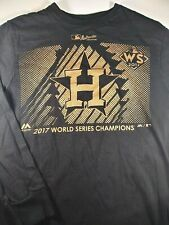 Houston Astros Men's Majestic 2017 World Series Champions Tee Black Small Rare