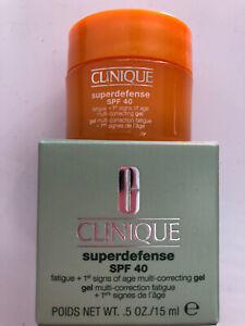 Clinique Superdefence SPF40 Moisturiser Gel 15ml new, boxed
