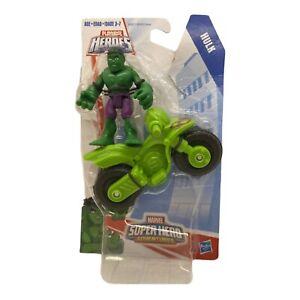 Playskool Heroes Marvel Super Hero Adventures Hulk with Motorcycle Hasbro
