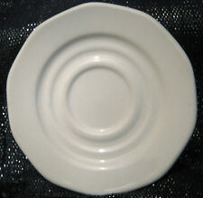 2x Lovely Dudson Armorlite saucers in white/ivory approx 5.75ins in diameter