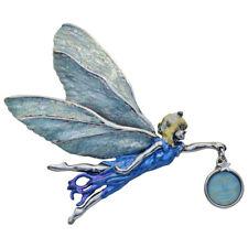 Kirks Folly Astral's Glass Seaview Moon Pin Pendant (Silvertone)