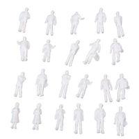 100pcs HO Scale 1:100 White Model People Unpainted Train Figures K8W9 R2R8 M0Q6
