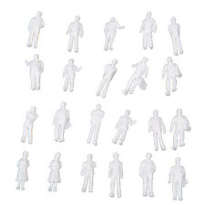 100pcs HO Scale 1:100 White Model People Unpainted Train Figures K8W9