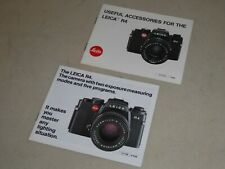 LEICA R4 ADVERTISING BROCHURE & ACCESSORIES BROCHURE          (TB)