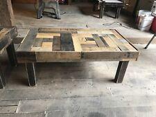 Reclaimed Pallet Wood Coffee Table Set