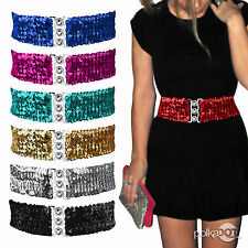 Sequined Plastic Belts for Women