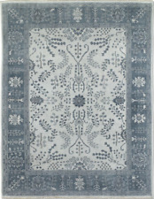 $3995 Restoration Hardware Nava Light Grey Hand Knotted Rug 8x10 Wool