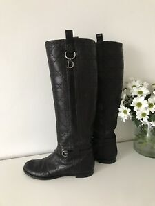 Dior ❤️ Black Leather Boots Size 4