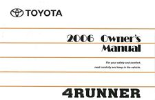 2006 Toyota 4Runner Owners Manual User Guide Reference Operator Book